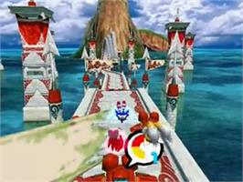 In game image of Sonic Heroes on the Sony Playstation 2.