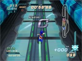 In game image of Sonic Riders on the Sony Playstation 2.