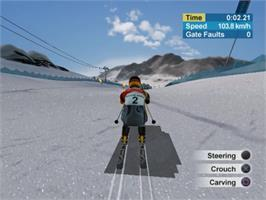 In game image of Torino 2006 on the Sony Playstation 2.