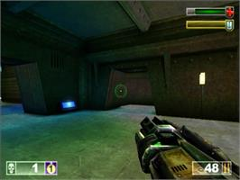 In game image of Unreal Tournament on the Sony Playstation 2.