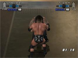 In game image of WWE Smackdown vs. Raw 2006 on the Sony Playstation 2.