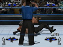 In game image of WWE Smackdown vs. Raw 2007 on the Sony Playstation 2.