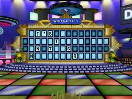 In game image of Wheel Of Fortune on the Sony Playstation 2.