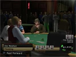 In game image of World Series of Poker: Tournament of Champions on the Sony Playstation 2.