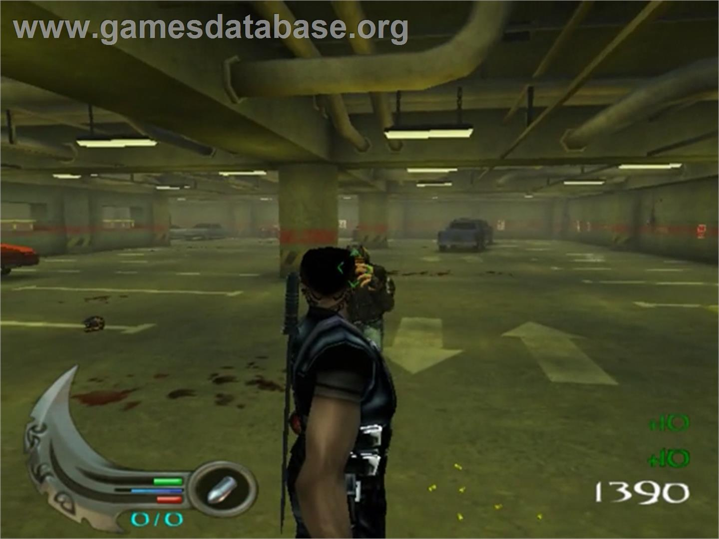 In game image of Blade 2 on the Sony Playstation 2.