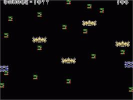 In game image of Barrier Attack on the Sord M5.