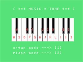 In game image of Music Tone on the Sord M5.