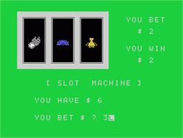 In game image of Slot Machine on the Sord M5.