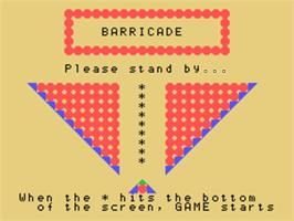 Title screen of Barricade on the Sord M5.