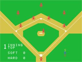 Title screen of Baseball on the Sord M5.