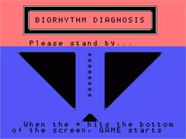 Title screen of Biorhythm Diagnosis on the Sord M5.