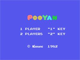 Title screen of Pooyan on the Sord M5.