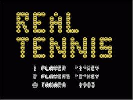 Title screen of Real Tennis on the Sord M5.