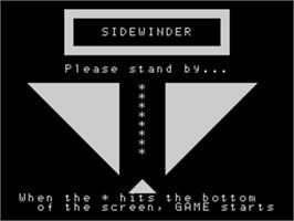 Title screen of Sidewinder on the Sord M5.