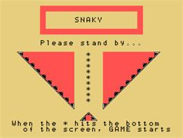 Title screen of Snaky on the Sord M5.