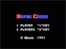 Title screen of Super Cobra on the Sord M5.