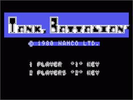 Title screen of Tank Battalion on the Sord M5.