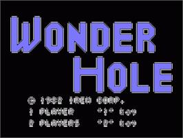 Title screen of Wonder Hole on the Sord M5.