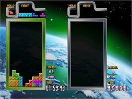In game image of Tetris The Grand Master 3 Terror Instinct on the Taito Type X.