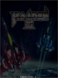 Title screen of Raiden III on the Taito Type X.