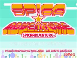 Title screen of Spica Adventure on the Taito Type X.