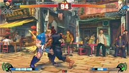 In game image of Street Fighter IV on the Taito Type X2.