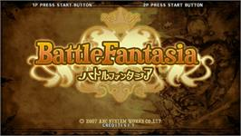 Title screen of Battle Fantasia on the Taito Type X2.