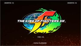 Title screen of King of Fighters XII, The on the Taito Type X2.