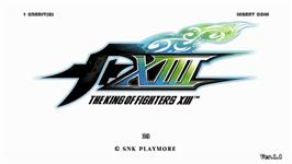 Title screen of King of Fighters XIII, The on the Taito Type X2.