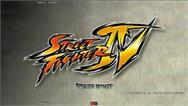 Title screen of Street Fighter IV on the Taito Type X2.