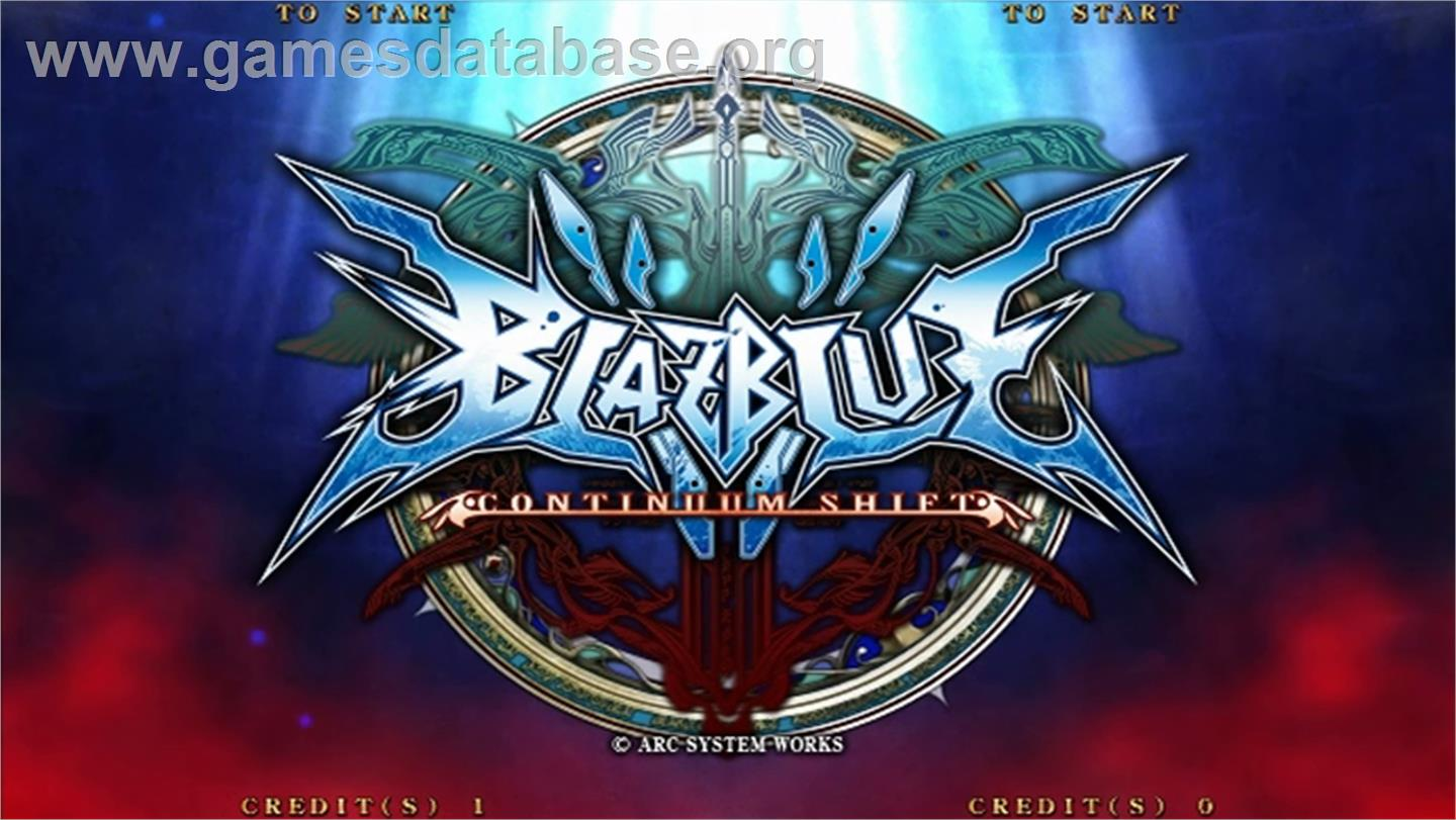 BlazBlue Continuum Shift - Taito Type X2 - Artwork - Title Screen