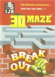 Box cover for Breakout on the Tangerine Oric.