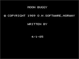 In game image of Moon Buggy on the Tangerine Oric.