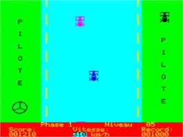 In game image of Pilote on the Tangerine Oric.