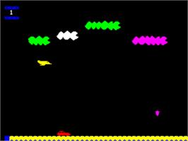 In game image of Poursuit on the Tangerine Oric.