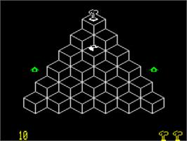 In game image of Toutou on the Tangerine Oric.