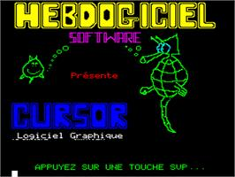 Title screen of Cursor on the Tangerine Oric.