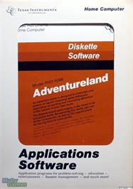 Box cover for Adventureland on the Texas Instruments TI 99/4A.