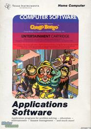 Box cover for Congo Bongo on the Texas Instruments TI 99/4A.