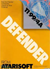 Box cover for Defender on the Texas Instruments TI 99/4A.