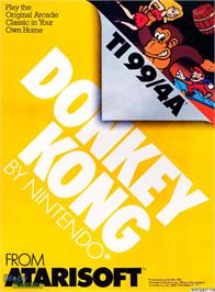 Box cover for Donkey Kong on the Texas Instruments TI 99/4A.