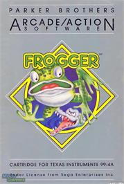 Box cover for Frogger on the Texas Instruments TI 99/4A.
