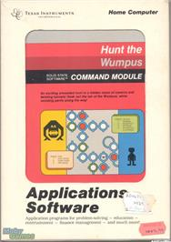 Box cover for Hunt the Wumpus on the Texas Instruments TI 99/4A.
