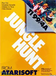 Box cover for Jungle Hunt on the Texas Instruments TI 99/4A.