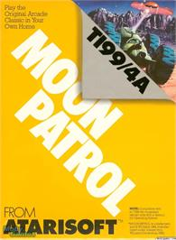 Box cover for Moon Patrol on the Texas Instruments TI 99/4A.