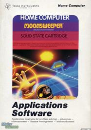 Box cover for Moonsweeper on the Texas Instruments TI 99/4A.