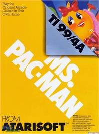 Box cover for Ms. Pac-Man on the Texas Instruments TI 99/4A.