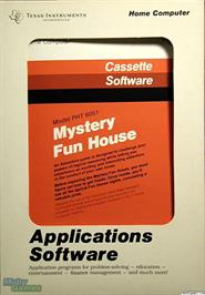 Box cover for Mystery Fun House on the Texas Instruments TI 99/4A.