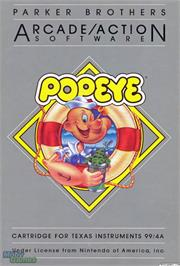 Box cover for Popeye on the Texas Instruments TI 99/4A.