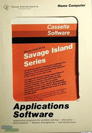 Box cover for Savage Island Series on the Texas Instruments TI 99/4A.